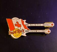 Hard Rock Cafe Pin Niagara Falls Cdn - White Doubleneck Guitar w/Flag - #30816