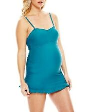 SPENCER MATERNITY 1-piece SWIMSUIT swimdress LARGE NWT teal