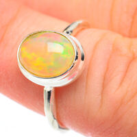 Ethiopian Opal 925 Sterling Silver Ring Size 5.25 Ana Co Jewelry R61359F