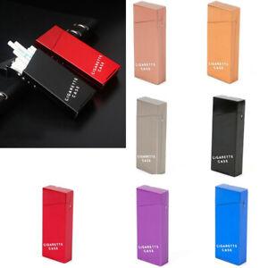 Fashion Women Narrow Slim Aluminum Cigarette Case Metal Holder Box Tobacco 20