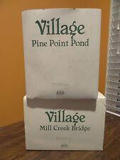 Dept 56 Pine Point Mill Creek Pond Bridge Forest Christmas Village Accessory Lot