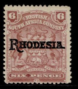 RHODESIA EDVII SG106, 6d reddish purple, M MINT. Cat £13.