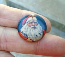 Vintage Christmas Santa Claus Pin 1930's National Tuberculosis Ass'n