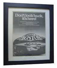 BOSTON+Don't Look Back+POSTER+AD+RARE ORIGINAL 1978+FRAMED+EXPRESS GLOBAL SHIP