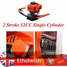 More details for petrol earth auger fence post hole borer ground 2 stroke 52cc single cylinder