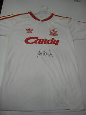 LIVERPOOL-IAN RUSH HAND SIGNED RETRO WHITE LIVERPOOL JERSEY+ PHOTO PROOF + C.O.A