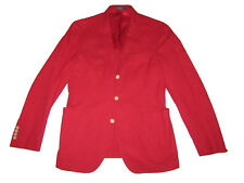 Polo Ralph Lauren Italy Red Pique Cotton Coat Sport Jacket 40R 40 R $595