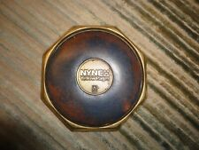vintage nynex yellow pages brass & leather coaster