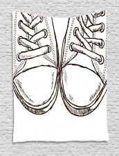 Sketch Tapestry Sneakers Teen Life Art Print Wall Hanging Decor