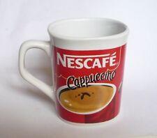 "NESCAFE COFFEE Ceramic Mug Cup MALAYSIA White Red Cappuccino 3.5"" Tall Nestle"