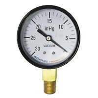 "Vaccum Pressure Gauge 30 PSI 2 -1/2"" Diameter 1/4"" NPT Bottom Mount - G2024-030V"