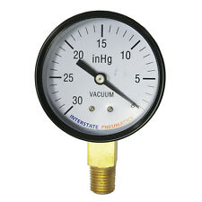 "Vaccum Pressure Gauge 30 PSI 2 -1/2"" Diameter 1/4"" NPT Bottom Mount - G2024-030V"