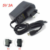 5V 3A 3000MA AC DC Micro USB Charger Power Supply Adapter For Raspberry Pi B+ CU