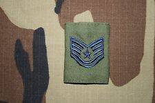 Military Patch US Air Force Technical Sergeant Jacket Tab Rank Blue Color Star