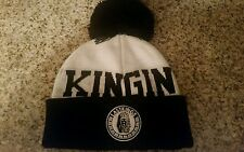 Last Kings Pom Beanie Tyga Black White Pharaoh Logo LK 100% Authentic Hat NWT