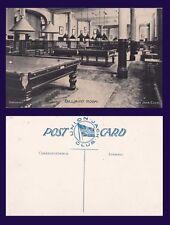 UK LONDON THE BILLIARD ROOM UNION JACK CLUB WITH POOL TABLES CIRCA 1907