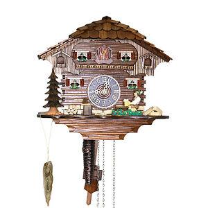 "Genuine 10"" Black Forest Cuckoo Clock 1 Day Chalet 14-10"