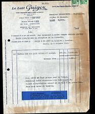 """PARIS (XVII°) LAIT """"GUIGOZ"""" Voyagée en 1948"""