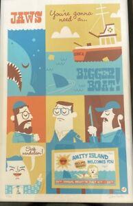 RARE JAWS YOU'RE GONNA NEED A BIGGER BOAT ART PRINT DAVE PERILLO LE 55