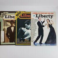 Vintage 1970s LIBERTY MAGAZINE Cagney Mata Hari Hepburn Astaire Lot of 3