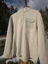 WOOLRICH Drifter Fleece Snap-T PULLOVER Tan Sweater Fleece, sz XL