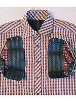 Robert Graham Mens XL Autumme Check/Plaid  Long Sleeve Flip Cuff Button Shirt