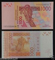 WEST AFRICAN STATES TOGO (T) 1000 Francs 2003 UNC