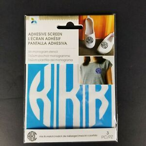 Momenta Reuseable Adhesive Screen 3 Inch Monogram Stencil Letter K New Craft