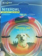 Nite Ize NiteHowl LED Dog Light Collar Safety Necklace - Red Universal Size