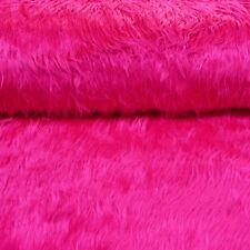 Fellimitat Kunstfell Stoff Langhaar pink