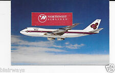 THAI AIRWAYS BOEING 747-200B AIRLINE ISSUE POSTCARD