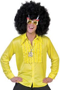 Saturday Night Adult Yellow Shirt Disco 1970s Halloween