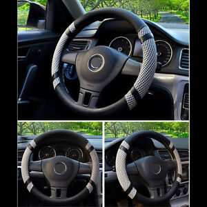 40cm / 16'' Car Steering Wheel Cover Microfiber Leather Gray Auto Cover Summer