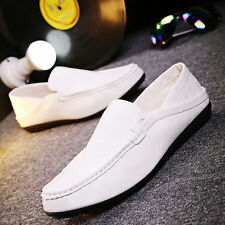 Hot Mens Slip On Casual Shoes Leather Loafers Smart Wedding Office Work UK Size