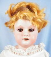 Antique Bisque Doll Armand Marseille 370 AM 21in. Kid Body Wig Loose AS IS