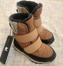 Sorel Whitney Strap Snow Boot Toddler Size 5   Cognac Brown   NEW!