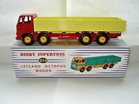 Atlas Dinky Supertoys 934 Red + Yellow Leyland Octopus 8 Wheel Wagon Mint/Boxed