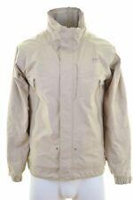 HELLY HANSEN Mens Rain Jacket Size 36 Small Beige Polyester  IW05