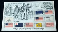 USA SC# 1345-1354 HISTORIC FLAG SERIES Stamps First Day of Issue Souvenir Cover