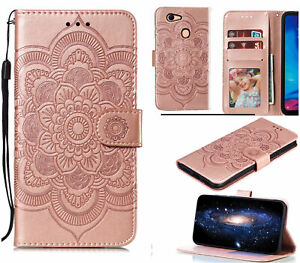 Oppo A73 A75 F5 Wallet Case Embossed Pu Leather Mandala