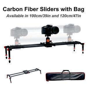 """*SALE* 39"""" or 47"""" Carbon Fiber Camera Slider Track Stabilizer w/ Bag DSLR Video"""