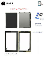 LCD + PANTALLA TACTIL DIGITALIZADOR + ADHESIVO + HOME APPLE IPAD 2 NEGRO NEGRA