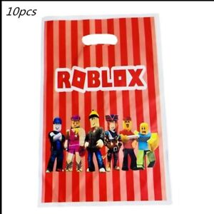 Pack of 10 Themed Kids Character Party Plastic Loot Gift Bags