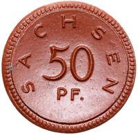 Sachsen - Münze - 50 Pfennig 1921 - Meissen - Porzellan