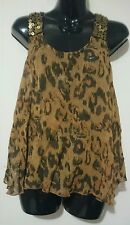 Ladies size Small Animal print Peace Angel Top BNWT FREE POST IN AUSTRALIA