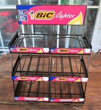 METAL BIC LIGHTER DISPLAY RACK - HOLD 6 BOXES OF BICS - LIGHTERS NOT INCLUDED