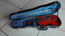 1/4 Violine Dekostück mit Bogen und Geigenkasten