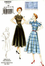 Vogue Sewing Pattern V9000 9000 Ladies Dress Retro 1951 8-16 16-24 NEW Vintage