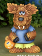"""Wolfie the Wolfman 5""""  Ceramic Bisque, Ready to Paint  FREE SHIPPING"""