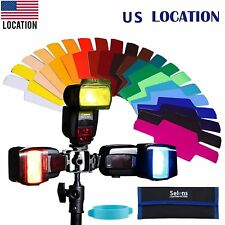 US 20 Color Photographic Gels Filter for Canon&Nikon  Yongnuo Flash Speedlite